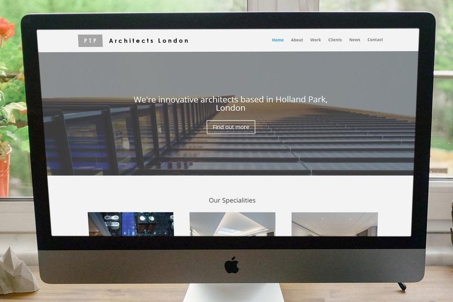 Portfolio item - Architects website Image