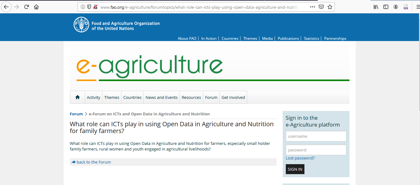 Contribution on open Data and Data science in Agriculture Image